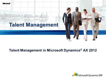 Talent Management in Microsoft Dynamics® AX 2012