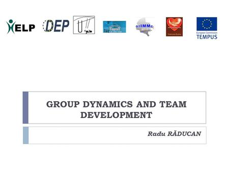 GROUP DYNAMICS AND TEAM DEVELOPMENT Radu RĂDUCAN.