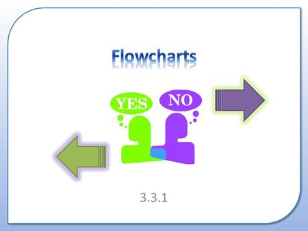 3.3.1. What is a Flowchart? Why are they used? How to draw them.
