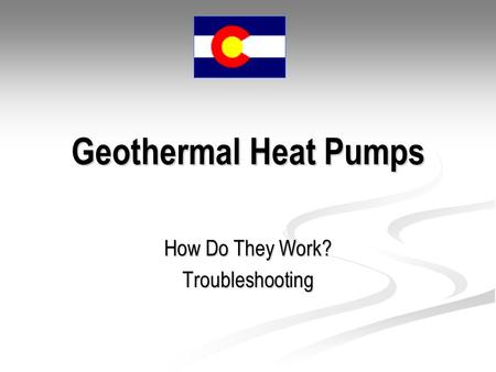 Geothermal Heat Pumps How Do They Work? Troubleshooting.