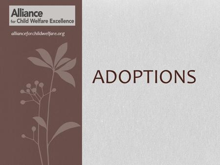 Allianceforchildwelfare.org Adoptions.