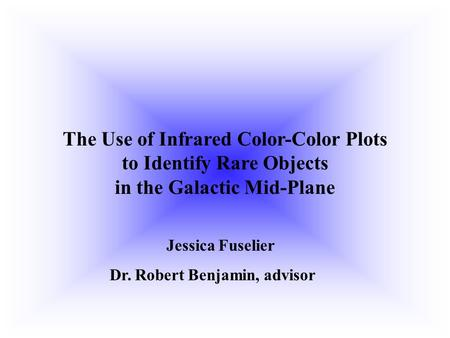 The Use of Infrared Color-Color Plots to Identify Rare Objects in the Galactic Mid-Plane Jessica Fuselier Dr. Robert Benjamin, advisor.