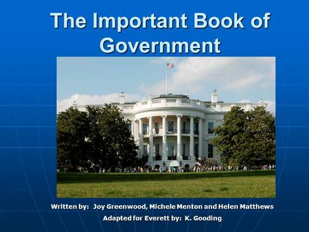 The Important Book of Government