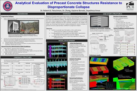 "Analytical Evaluation of Precast Concrete Structures Resistance to Disproportionate Collapse Progressive Collapse:  When a ""disproportionately"" large."