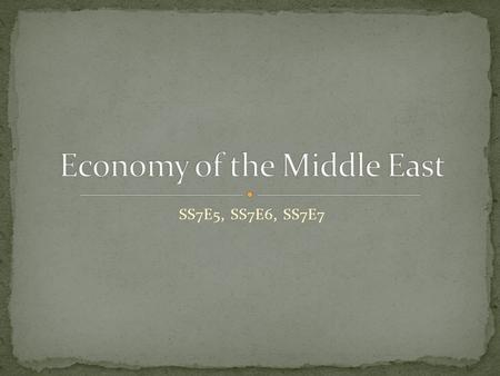 SS7E5, SS7E6, SS7E7. SS7E5. C. Compare and contrast the economic systems in Israel, Saudi Arabia, Turkey, and Iran.