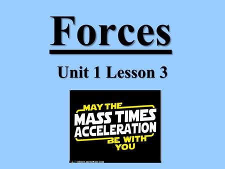 Forces Unit 1 Lesson 3. FORCES Force = push or pull Force has size and direction Force is labeled in Newtons (N). Forces must act on an object Forces.