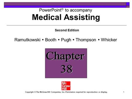 Medical Assisting Chapter 38