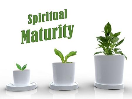 Spiritual Maturity Put away carnal things 1 Corinthians 3:1-3.