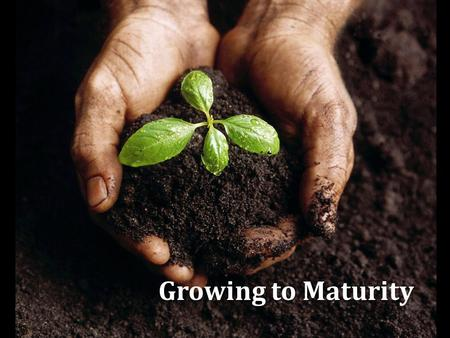 Growing to Maturity 1.  Desired by every conscientious Christian, Matt. 5:48; Phil. 3:12; Eph. 4:13  Unscriptural definitions:  Open-mindedness (tolerance),