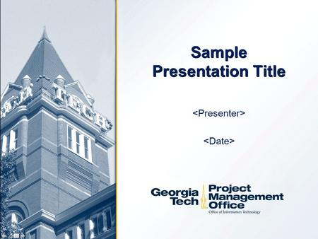 Sample Presentation Title. Agenda (Required)  Background Information  User Impact (Who?)  Status  Accomplishment / Completed Milestones  Metrics.