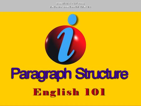 English 101 - PowerPoint PPT Presentation