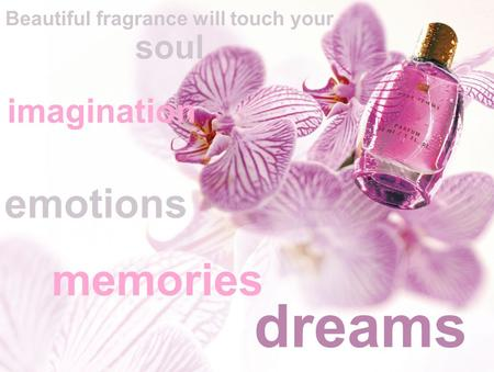 Memories dreams imagination emotions Beautiful fragrance will touch your soul.