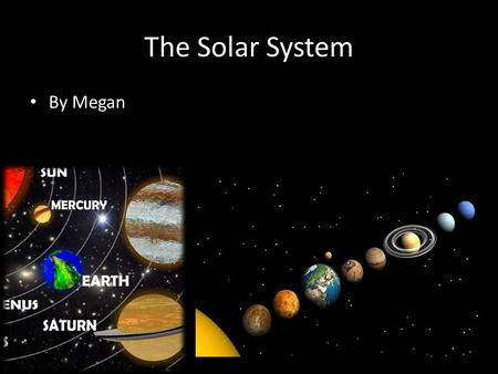 The Solar System By Megan. Sun The sun is a star that is in the middle of are Solar System.