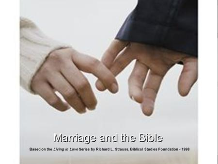 Bible based marriage studies for small