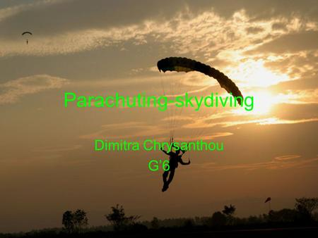 Parachuting-skydiving