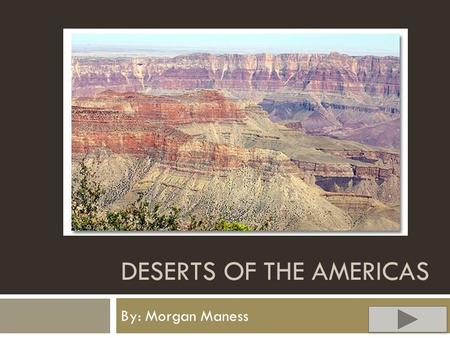 DESERTS OF THE AMERICAS By: Morgan Maness. Content  Content area: Science  Grade level: 6  Summary: The purpose of this PowerPoint activity is to have.