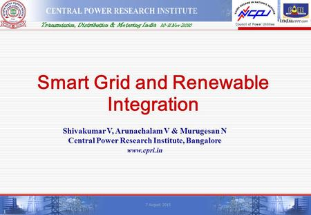 Smart Grid and <strong>Renewable</strong> Integration