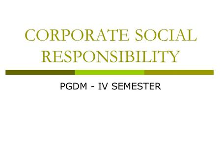 Coca-Cola and Corporate Social Responsibility