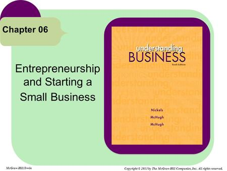 Entrepreneurship and Starting a Small Business Chapter 06 McGraw-Hill/Irwin Copyright © 2013 by The McGraw-Hill Companies, Inc. All rights reserved.