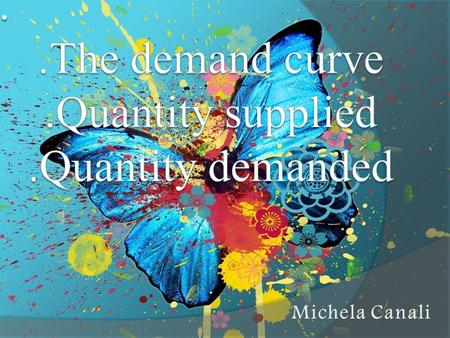 The demand curve is the relationship between the quantity of a good and its price, they are inversely proportional. So when the price of a good increases,