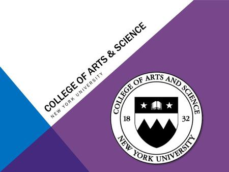 COLLEGE OF ARTS & SCIENCE NEW YORK UNIVERSITY. TABLE OF CONTENTS 1.Your Liberal Arts Education 2.The Big Four 3.Morse Academic Plan 4.Academic Advising.