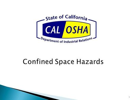 "Confined Space Hazards 1.  IIPP (Section 3203)(a) ""…every employer…""  (a) (4) Include procedures for identifying and evaluating work place hazards…"