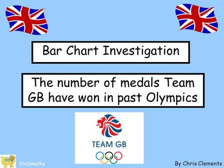 Bar Chart Investigation By Chris Clements 3to11maths The number of medals Team GB have won in past Olympics.