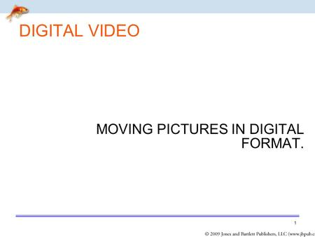 MOVING PICTURES IN DIGITAL FORMAT.