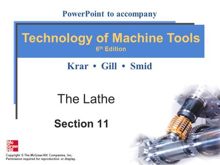 The Lathe Section 11.