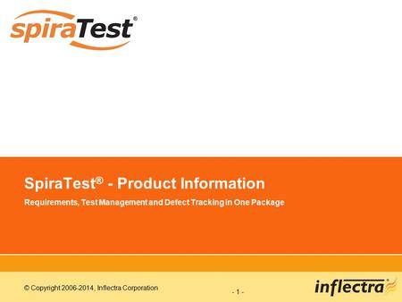 SpiraTest® - Product Information