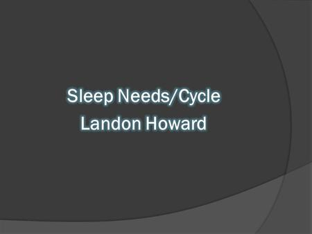 Sleep Cycle  Part of the cycle of sleep and waking.  Circadian Rhythm: naturally occurring 24- hr cycle.  Rest-activity of actually 25.1 hours. Stay.
