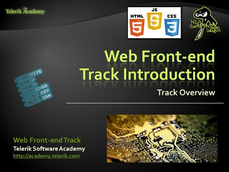 Track Overview Telerik Software Academy  Web Front-end Track.