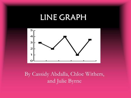 LINE GRAPH By Cassidy Abdalla, Chloe Withers, and Julie Byrne.