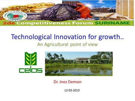 Technological Innovation for growth.. An Agricultural point of view