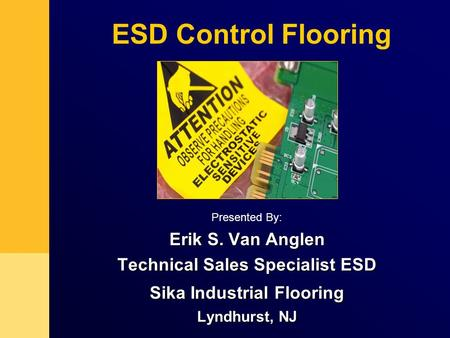 Technical Sales Specialist ESD Sika Industrial Flooring