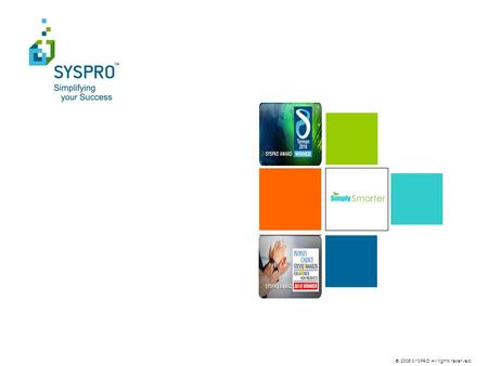 © 2008 SYSPRO All rights reserved.. Overview SYSPRO WMS.