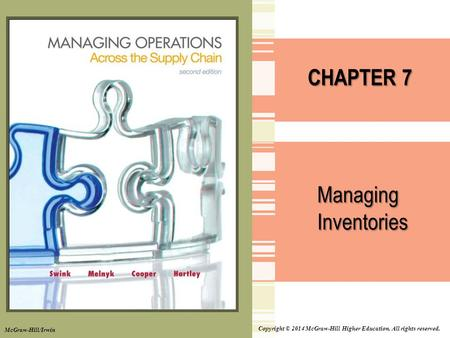 CHAPTER 7 Managing Inventories