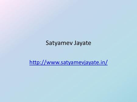 Satyamev Jayate  Project Description  The website needed to be an independent entity with a life beyond the show  The.