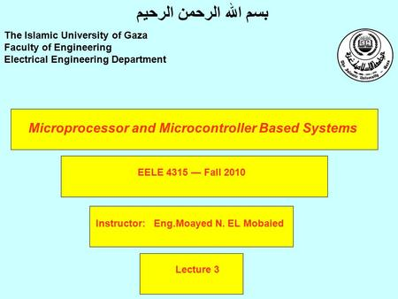 Microprocessor and Microcontroller Based Systems
