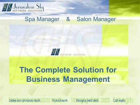 Spa Manager & Salon Manager The Complete Solution for Business Management.