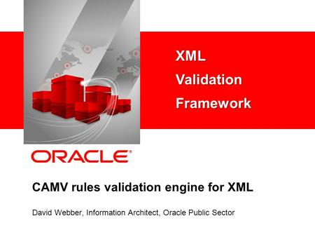 CAMV rules validation engine for XML