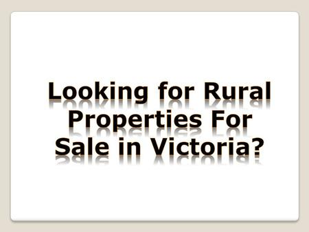 PRH specialises in the purchase, development, marketing and sale of country property throughout Victoria. We are amongst top leader for rural property.