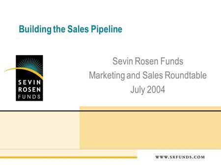 Building the Sales Pipeline