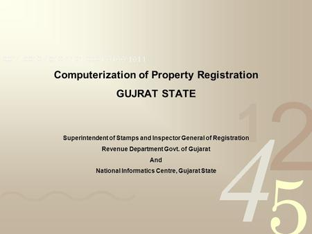 Computerization of Property Registration GUJRAT STATE