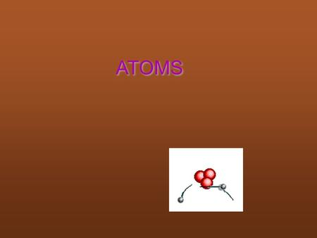 ATOMS. Atom Smallest part of any element that contains all properties of that element.
