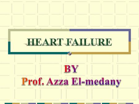 Heart failure Results from any structural or functional cardiac disorder that impairs the ability of the ventricle to fill with or eject blood to meet.