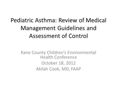 Kane County Children's Environmental Health Conference