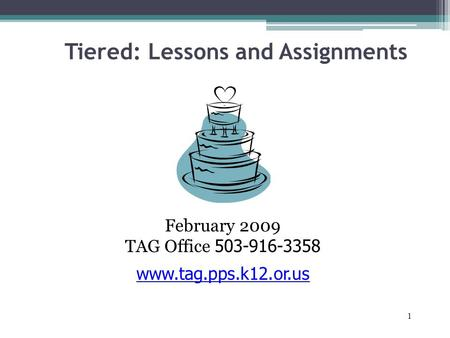 Tiered: Lessons and Assignments