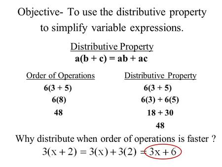 order of operations with variables pdf