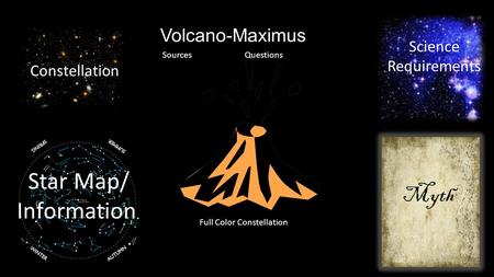 Myth Constellation Star Map/ Information Volcano-Maximus Full Color Constellation Science Requirements SourcesQuestions.